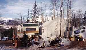 This rough and ready Yukon bush camp was home to Seppala Kennels, Isa Boucher and Jeffrey Bragg for four years.
